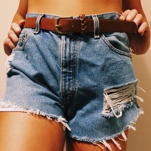 Vintage Levi Distressed Shorts